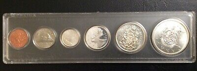 The  Old Commemorative Canada Silver Coins Mint 1964 Bu Set Uncirculated.