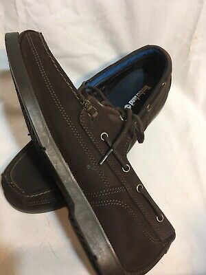 TIMBERLAND MEN'S TIDELANDS Boat Shoes A1HAF Suede Brown US