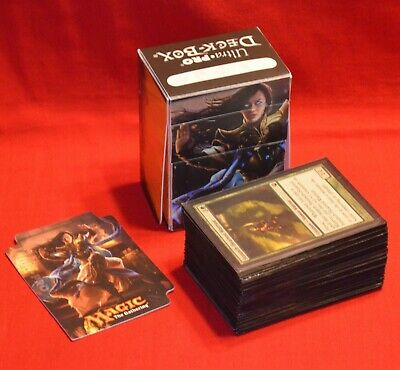 Mtg Magic The Gathering 82 Card Lot In Sleeves & 2015 Ultra Pro Deck Box