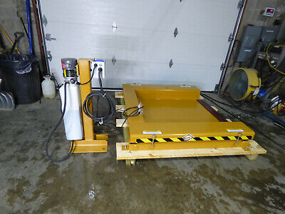 "ECOA ZPL 6000LB Hydraulic Roll On Scissor Lift 44"" X 48"" Unused 115 Volt"