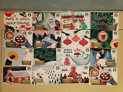 🌲16 STARBUCKS NEW HOLIDAY 2019 GIFT CARDS CHRISTMAS LOT! Collectors!
