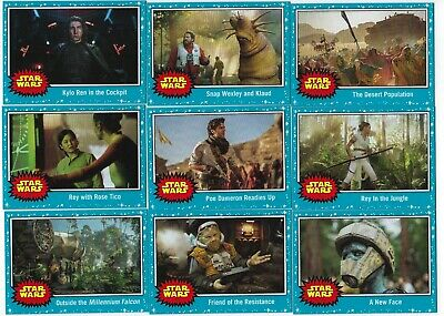 2019 Star Wars Journey To The Rise Of Skywalker Complete Base Set (1-110 Cards)