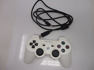 Sony PS3 Wireless Dualshock 3 Controller White Official Genuine OEM