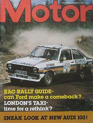 Motor magazine 21/11/1981 featuring BMW road test