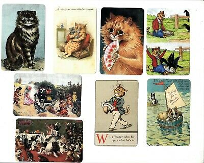 8  Swap Playing Cards  Cats Kittens Louis Wain Modern Blank Backs Just 50C Each