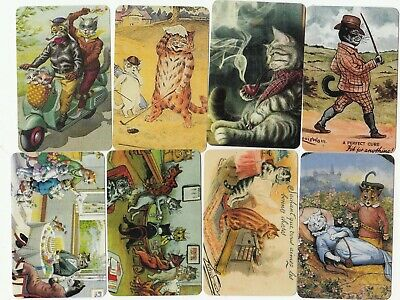 8 Swap Playing Cards Cats Kittens Louis Wain Modern Blank Backs Just 50C Each #2