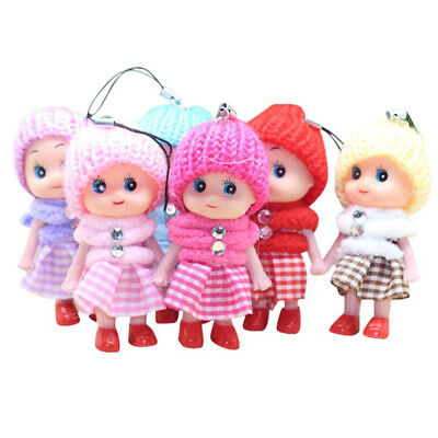 5Pcs Kids Toys Soft Interactive Baby Dolls Toy Mini Doll For Girls Cute Gift GF6