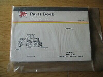 JCB Parts Book for Loadall Telehandler Model 530,  M768740 Onwards