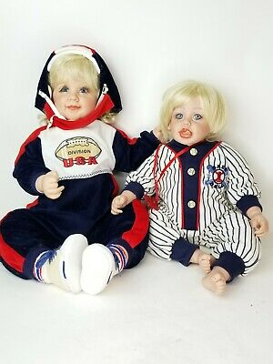 2 Fayzah Spanos Doll Baby Kids SIGNED NUMBERED VINYL 1998 and 2002 Bumdle