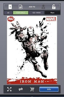 Topps Marvel Collect - Splash Paintings - IRON MAN (Color/B&W) *Digital