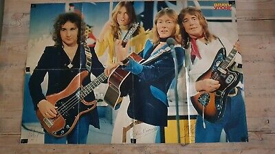 BRAVO 1977 Giant Poster SMOKIE / RUNAWAYS