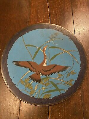 Beautiful Antique 18th Century Chinese Cloisonné Enamel Wall Plate