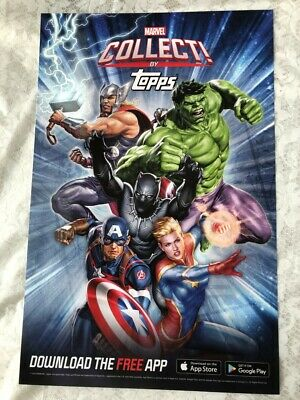 NYCC 2019 New York Comic Con Topps Marvel Collect #2 Promo Poster