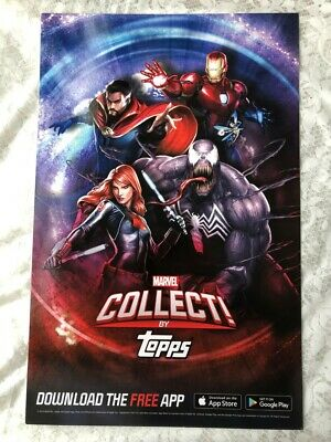 NYCC 2019 New York Comic Con Topps Marvel Collect #1 Promo Poster