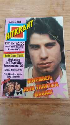 HITKRANT week44 '78 Dutch Music magazine, Grease AC/DC Shirts Stones Ramses Sid