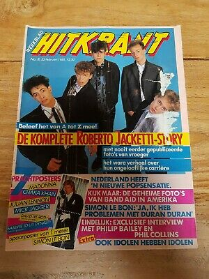 HITKRANT week08 '85 Dutch Music magazine, Duran Bailey Collins Jacketti Zadora