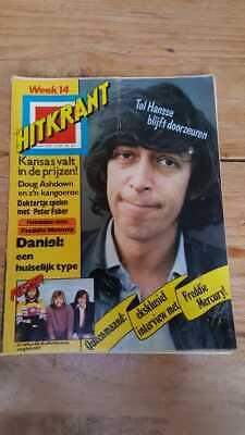 HITKRANT week14 '78 Dutch Music magazine, Hansse, George Baker, Freddie Mercury