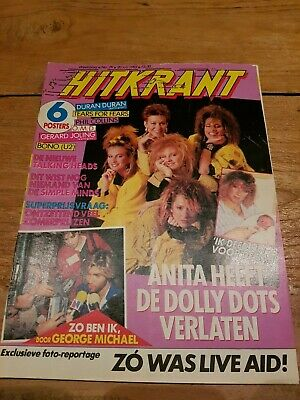 HITKRANT week29 '85 Dutch Music magazine, Dolly Dots Scritti Springsteen Young