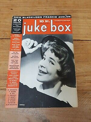 JUKE BOX No52 '60 Belgian Magazine, Elvis Sands Piaf Rydell Bruhl Avalon Conny
