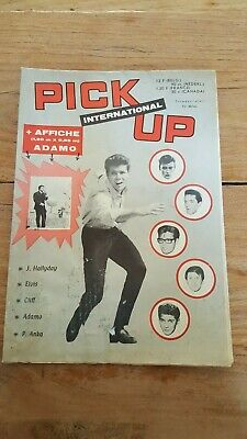 PICK UP INTERNATIONAL '63 Belgian Music Poster-magazine, Cliff Adamo Hallyday