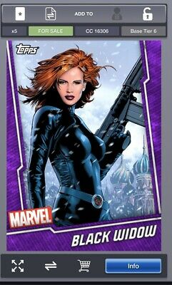 Topps MARVEL COLLECT DIGITAL Card TIER 6 PURPLE Black Widow
