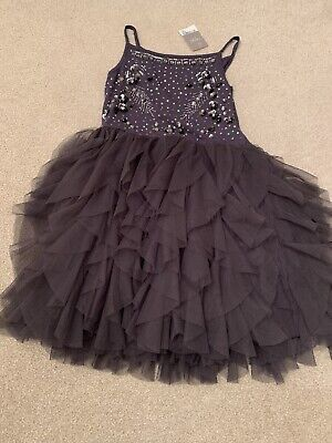 Bnwt Next Girls Dress Embellished Dress With Tutu Skirt 9 Years Rrp£30
