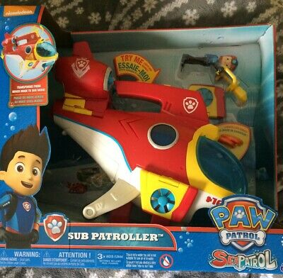 Paw Patrol Sub Patroller Transforming Vehicle With Lights Sounds and Launcher
