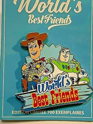Pin Pins Disney Paris - TOY STORY - BUZZ and WOODY - DLP WORLD'S BEST FRIENDS