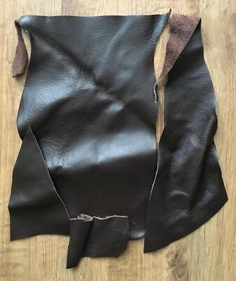 1kg Upholstery Quality Leather Off-Cuts/Remnants (BROWN) Arts & Crafts/Patchwork