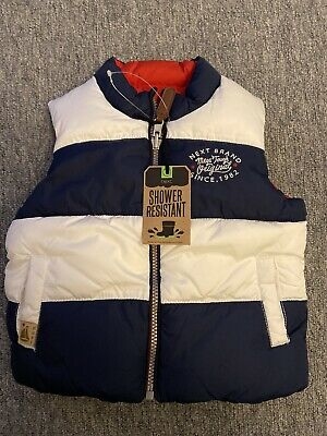 Next baby boys gillet body warmer age 12-18 months (reversible)