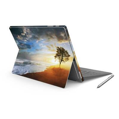 Ocean Beach Tree Vinyl Skin Sticker Wrap to Cover Surface Pro Back & Sides