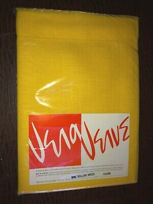 Vintage VERA VERVE Tablecloth #896 YELLOW MAIZE Size 60 x 84 Never Used