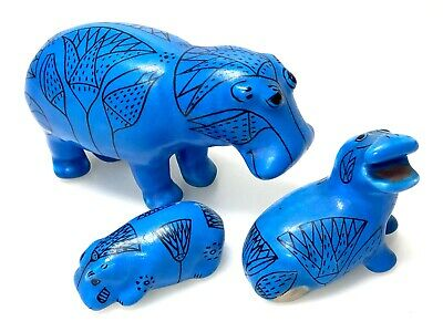MMA Museum of Modern Art WILLIAM The HIPPO Egyptian Blue Pottery Set Mid C