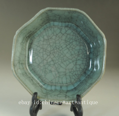 Old chinese natural cracked glaze Longquan cyan porcelain brush washer /Db01B