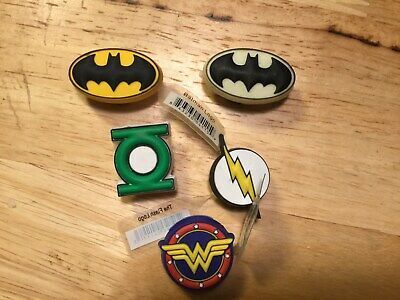 Dc Comics Superhero Logo 5 Different Authentic Jibbitz Shoe Charm Fit Crocs