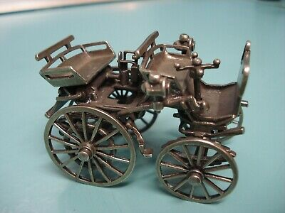Vintage antique mini miniature UNO A ERRE 800 sterling silver carriage car works