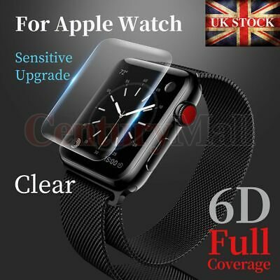Full Cover Tempered Glass Screen Protector For Apple Watch 5 44mm 42mm 40mm 38