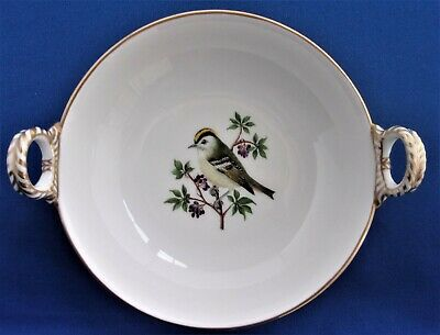 ANTIQUE BERLIN GERMAN ORNITHOLOGICAL BOWL HAND PAINTED - 19th / early 20th Cent.