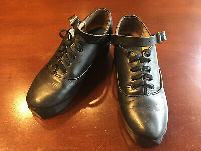 Rutherford Leather Sole Irish Dance Soft Shoes Pumps Light Ghillies size 1