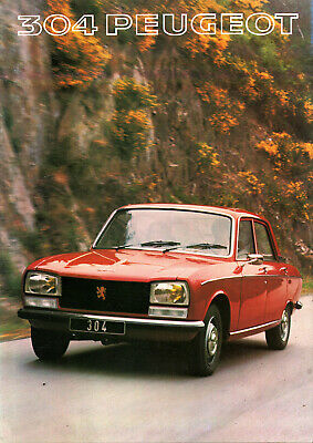 Catalogue publicitaire 1977 PEUGEOT 304 SL SLS GL berline break