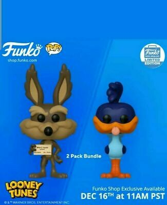 Funko POP! Wile E. Coyote & Road Runner 2-Pack Exclusive Bundle IN-HAND