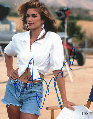 Sexy Cindy Crawford Signed 11X14 Photo Authentic Autograph Bas Beckett Coa 11