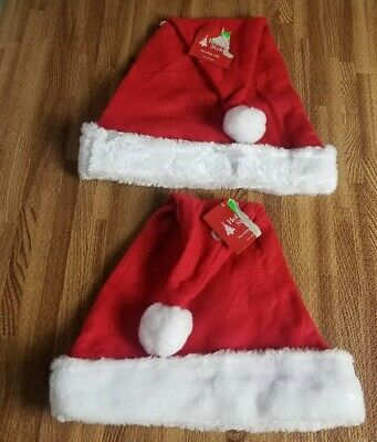 Christmas Santa Hats With Bells On String 2 Each Adult Head Size Be Jolly 150F