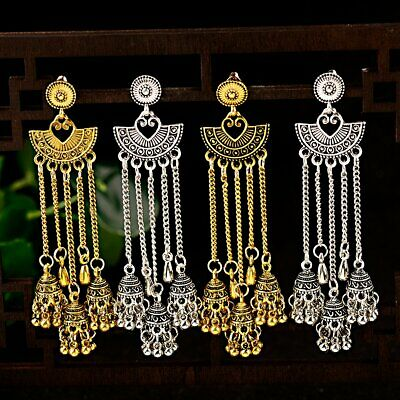 Fashion Women Vingate Jewelry Bohemia Charm Gold&Silver Pendant Retro Earrings