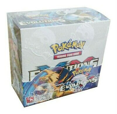 Pokemon Evolutions XY sealed unopened booster box 36 packs of 10 cards IN STO...