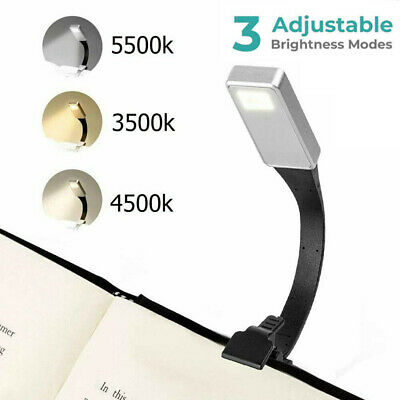 Clip On Book LED Reading Light Lamp Bookmark for Bed Night Travel Small Tiny USB