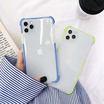 Shockproof Silicone Bumper Case Clear Soft Cover For iPhone 11 Pro Max Xs XR 8 7