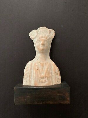 Terracotta Bust Hellenistic Period Found in Jaffa Certification Paper Included