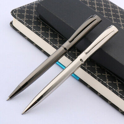 office new school metal Gun gray Silver wave Striped circles gift Ballpoint pen