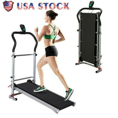 Manual Treadmill Working Machine Cardio Fitness Exercise Folding Incline HomeNew
